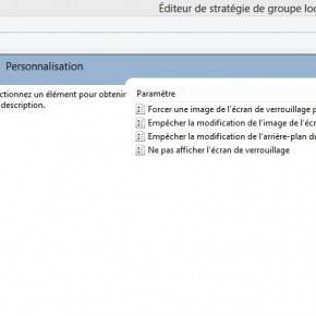 Empcher les utilisateurs de modifier votre fond d&#039;cran Windows 8